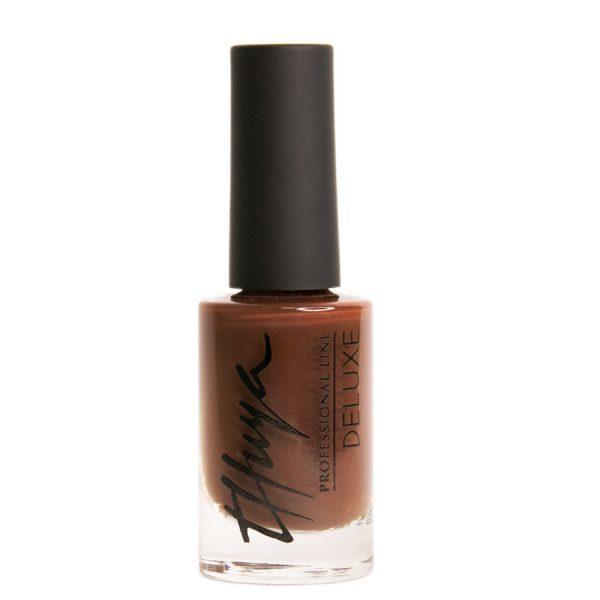esmalte de uñas marrón oscuro deluxe