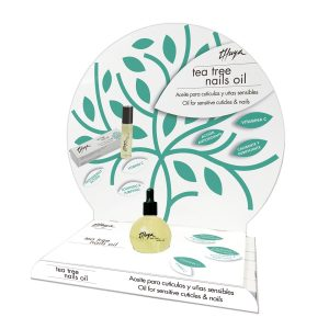 expositor tea tree nails oil cutículas