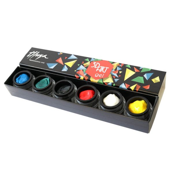 kit 3d art gel uñas decoradas