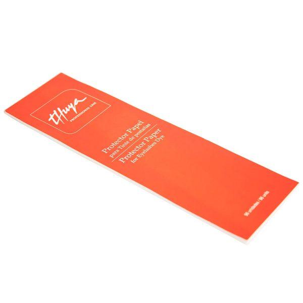 papel protector tinte de pestañas