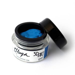 3d art gel unghie blu decorate