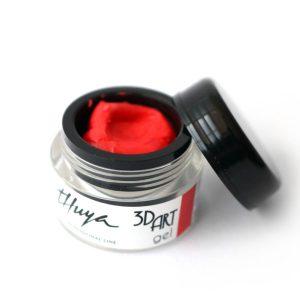 3d art gel rojo uñas decoradas