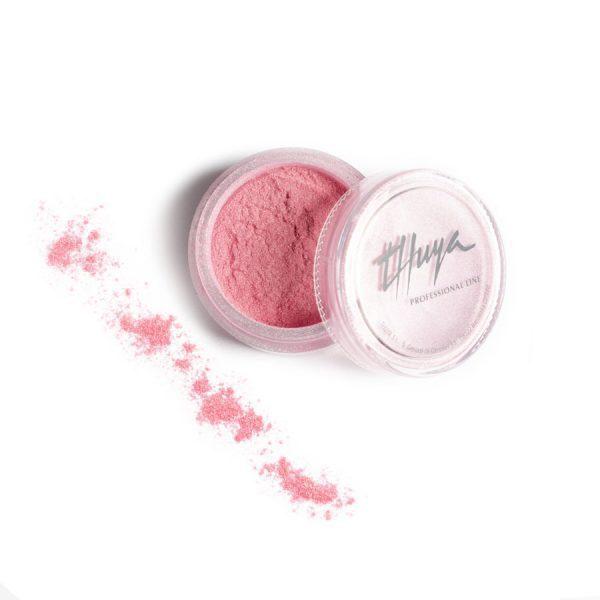 polvo acrílico metallic pink nail art thuya professional line