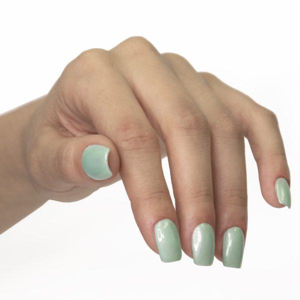 manicura esmalte de uñas deluxe sugar green