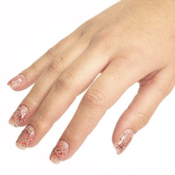 Esmaltes de uñas semipermanente on off artistic red