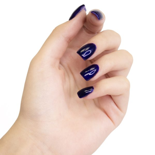 Esmaltes de uñas permanente on off azul eléctrico