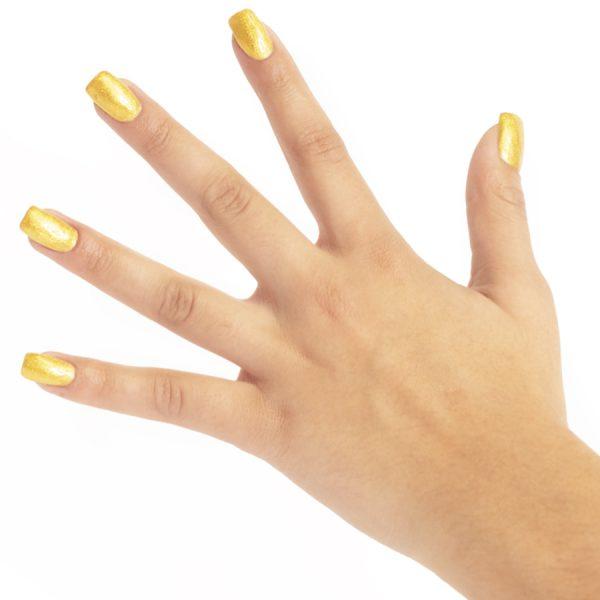 Smalto permanente su off gold