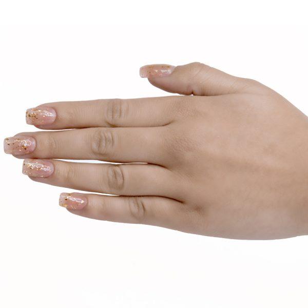 Esmaltes de uñas semipermanente on off starlight gold