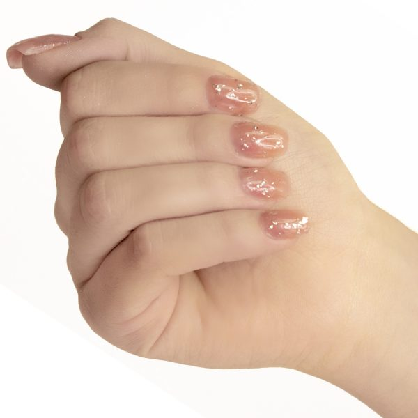 Esmaltes de uñas semipermanente on off Starlight Silver