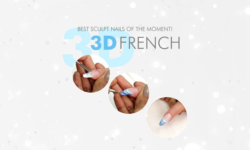 3d french nails
