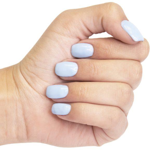 Smalto permanente per unghie su off Baby blue