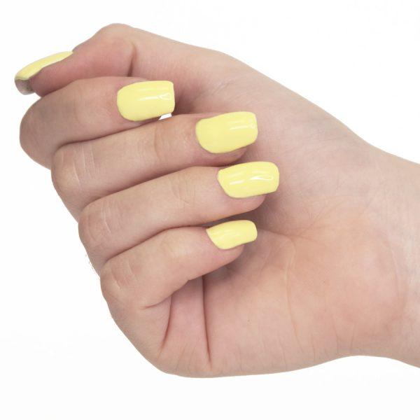 Esmaltes de uñas semipermanente on off lemon yellow