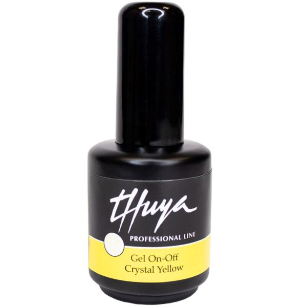 thuya gel on off crystal yellow