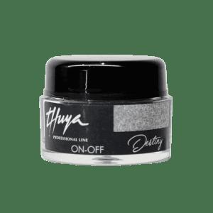 Permanent Nail Polish Silver Miss Glitter Thuya Professional Line
