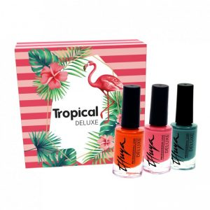 Esmalte de uñas Deluxe tropical kit